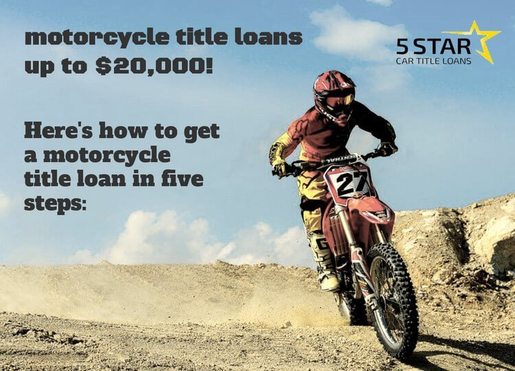5 Star Loans Is Proud To Offer Motorcycle Title Loans Wfmj Com