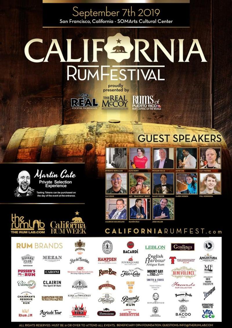 FIFTH ANNUAL CALIFORNIA RUM FEST RETURNS TO SAN FRANCISCO